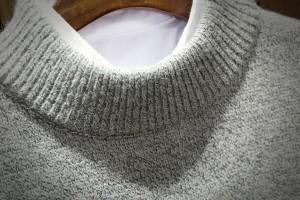 ニット メンズ トップス セーター ハイネック 首回り広め 刺繍 ドロップショルダー カジュアル メンズファッション 3000円以上送料無料