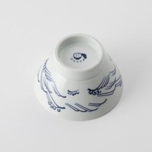 ご飯茶碗 食器・調理器具 波文様 白 飯碗 日本製 国産 キッチン用品 食器 和食器 陶器 和風 料理 3000円以上送料無料