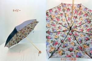 折り畳み傘 レディース 傘 雨傘 折畳傘 婦人 シャンタン両面 裏ホグシプリント 日本製 国産品 コンパクト折畳雨傘 3000円以上送料無料