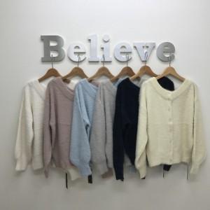 カーディガン ボレロ レディース トップス フェザー 2WAY レディースファッション 長袖 3000円以上送料無料