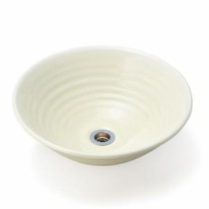 洗面 洗面ボール 洗面ボウル 手洗い鉢 洗面台 磁器 洗面 ボール ボウル 沙羅  黄地白吹き Sサイズ 直径320ミリ
