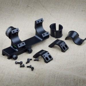 DISCOVERY 水平器/角度計付ワンピーススコープマウント 30mm(1inchスペーサー付属)