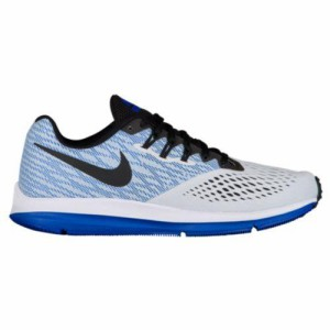 (取寄)ナイキ メンズ ズーム ウィンフロー 4 Nike Men's Zoom Winflo 4 Pure Platinum Black Hyper Royal White