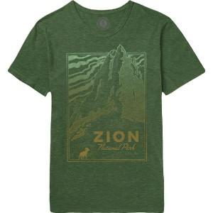 (取寄)パークスプロジェクト メンズ ザイオン ピーク Tシャツ Parks Project Men's Zion Peak T-Shirt Heather Forest