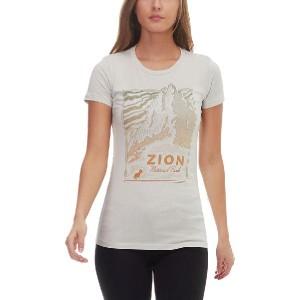 (取寄)パークスプロジェクト レディース ザイオン ピーク Tシャツ Parks Project Women Zion Peak T-Shirt Smoke