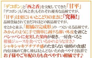 """【送料無料】愛媛産 """"甘平"""" ちょっと訳あり 大きさおまかせ 約3kg【予約 1月中旬以降】"""