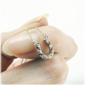 (リュイール)Luire 馬蹄 ネックレス ダイヤモンド ホースシュー ペンダント お守り 【K18WG】【K18YG】【K18PG】
