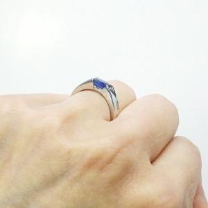 (リュイール)Luire アクアマリン【3月誕生石】大粒 オーバルリング カラーストーン プラチナ900
