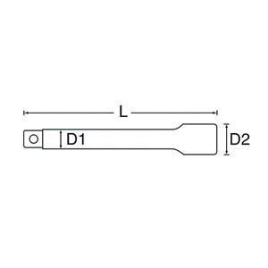 "SIGNET(シグネット) 13543 1/2DR 10""(250MM)ロッキング エキステンションバー"