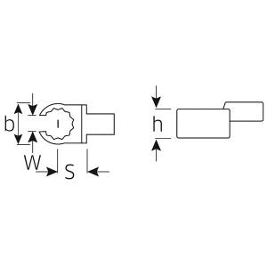 STAHLWILLE(スタビレー) 733/10-10 トルクレンチ差替ヘッド (58231010)