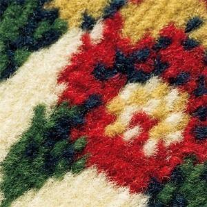 2柄3色から選べる!ウィルトン織カーペット/絨毯 【長方形/約200×250cm 更紗ネイビー】 ポリプロピレン製