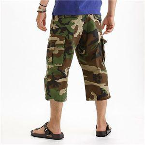 アメリカ軍 BDU クロップドカーゴパンツ /迷彩服パンツ 【 Lサイズ 】 リップストップ ウッドランド 【 レプリカ 】