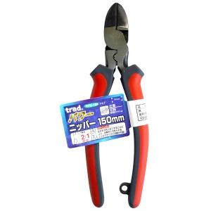 (業務用5個セット) trad パワー圧着ニッパー(DIY 工具 プライヤー) TPN-150mm レッド&グレー