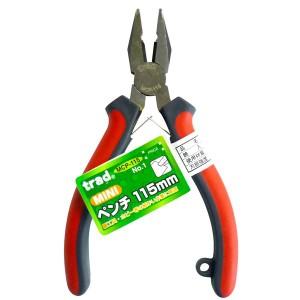 (業務用10個セット) trad ミニペンチ(DIY 工具 プライヤー) NO.1 MCP115mm レッド&グレー