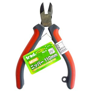 (業務用10個セット) trad ミニニッパー(DIY 工具 プライヤー) NO.4 MNP110mm レッド&グレー
