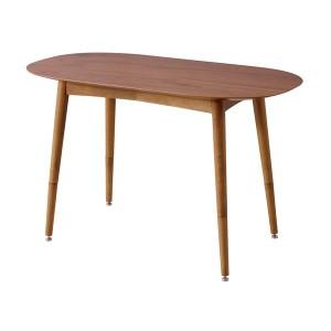 天然木 2WAYテーブル/ローテーブル 【オーバル型 幅100cm】 木製 継ぎ足式 木目調 『トムテ』
