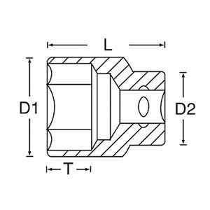 """SIGNET(シグネット) 13112 1/2DR 1.1/16"""" ソケット (6角)"""
