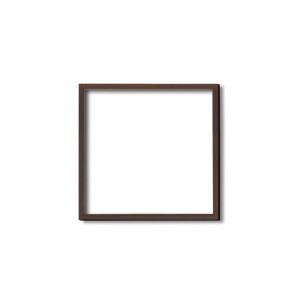 【角額】木製正方額・壁掛けひも■5767 250角(250×250mm)「ブラウン」