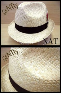中折れハット メンズ GEN 麦わら 帽子 ハット 中折れ HAT キャップ ストローハット【今週まで50%オフ以上】