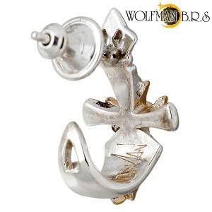 WOLFMAN B.R.S ウルフマン シルバー ピアス メンズ レディース ブレードスタッド WO-E-009