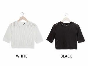 Tシャツ 半袖 ワンピース 無地 Vネック ロゴ カットソー チュニック トップス 夏 シフォ
