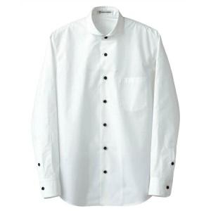 セブンユニフォーム 男性用長袖シャツ CH4426-0 ホワイト M SEVEN UNIFORM 送料無料 キッチン用品