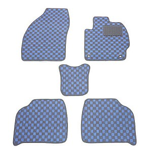 天野 エブリィ 型式:DA17 年式:H27〜 (商用 AT リア一体) チェック [カラー:ブラック×ブルー] AMANO 送料無料 日用品・生活雑貨