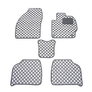 天野 ミライース 型式:LA300 年式:H23〜 チェック [カラー:ブラック×ホワイト] AMANO 送料無料 日用品・生活雑貨