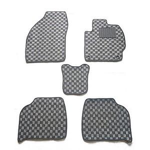 天野 クラウン 年式:H20~H24 型式:200 2WD フロアマット一式 チェック [カラー:ブラック×グレー] AMANO 送料無料 カー用品