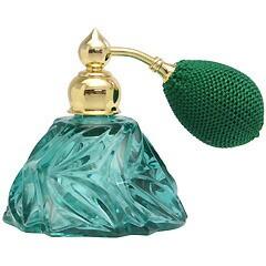 カラフル クリスタルアトマイザー ドイツ製 クリスタル香水瓶 28078 (クリスタル グリーン) 25ml