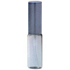 ヒロセ アトマイザー HIROSE ATOMIZER クリアー ガラスアトマイザー アルミキャップ 48095 (CLガラスAT ブラック) 4ml