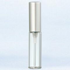 【香水 ヤマダアトマイザー】YAMADA ATOMIZER グラスアトマイザー プラスチックポンプ 無地 5204 アルミキャップ シルバーつや消し 4ml