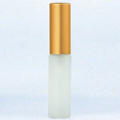 グラスアトマイザー プラスチックポンプ 無地 6241 フロスト アルミキャップ ゴールドつや消し 4ml