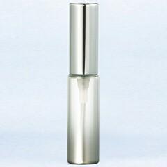 グラスアトマイザー プラスチックポンプ 無地 60401 メタリックグラデ シルバー アルミキャップ シルバー 4ml