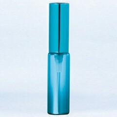 グラスアトマイザー プラスチックポンプ 無地 60402 メタリックグラデ ブルー アルミキャップ ブルー 4ml