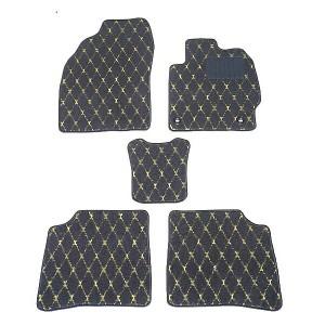 天野 NBOX プラス 年式:H24〜 フロアマット一式 ダイヤモンド [カラー:ブラック×イエロー] AMANO 送料無料 カー用品