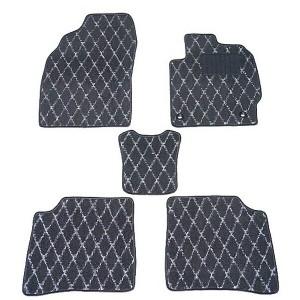 天野 AMANO AZワゴン 年式:H20〜 (コラムシフト) フロアマット一式 ダイヤモンド [カラー:ブラック×グレー] カー用品