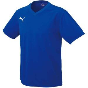 プーマ PUMA ワンポイントジュニア半袖ゲームシャツ [カラー:ブルー×ホワイト] [サイズ:140] #903293-01 スポーツ・アウトドア