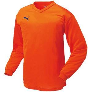 プーマ PUMA ワンポイント長袖ゲームシャツ [カラー:オレンジ×ブルー] [サイズ:M] #903292-04 スポーツ・アウトドア