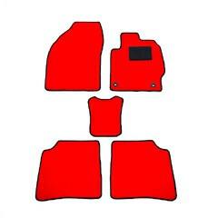 天野 アテンザ ワゴン 年式:H24〜 フロアマット一式 無地 [カラー:レッド] AMANO 送料無料 カー用品