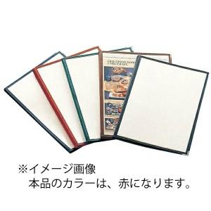 AIM えいむ クリアテーピング メニューブック 合皮 LTB-48 赤 キッチン用品