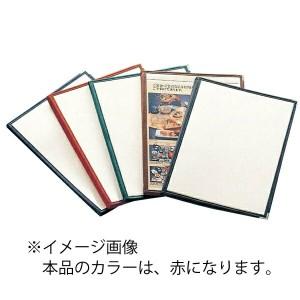 AIM えいむ クリアテーピング メニューブック 合皮 LTA-48 赤 キッチン用品