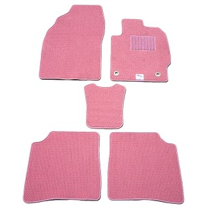 天野 AMANO ランドクルーザー 年式:H2~H8 ロング フロアマット一式 プレミアム スタンダード [カラー:ピンク] 送料無料 カー用品