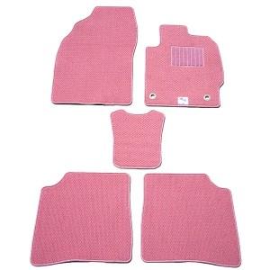 天野 AMANO ランドクルーザー 年式:H12~H19 フロアマット一式 プレミアム スタンダード [カラー:ピンク] 送料無料 カー用品