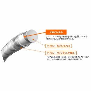 テニスガット(硬式用) DYNAWAIRE125(ダイナワイヤー125) ロール巻き [カラー:ホワイト×シルバー] [長さ:240m] #TDW125-2-284送料無料