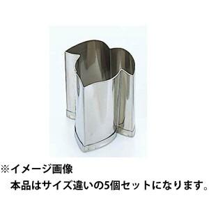 江部松商事 EBEMATU SYOUJI EBM 18-8 手造り業務用 抜型 5Pcs 夏 朝顔の葉 キッチン用品