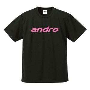 アンドロ ANDRO 卓球ゲームシャツ ナパTシャツ3 [カラー:ブラック×ピンク] [サイズ:L] #302054 スポーツ・アウトドア