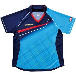 ヴィクタス VICTAS 卓球アパレル V-LS037 Viscotecs ゲームシャツ(女子用) [カラー:ブルー] [サイズ:M] #031460-0120