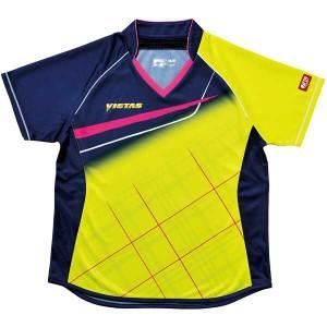 ヴィクタス VICTAS 卓球アパレル V-LS037 Viscotecs ゲームシャツ(女子用) [カラー:ライム] [サイズ:XO] #031460-0280