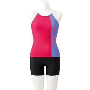 Water Exercise 大きめカラースナップ付き HASSUIセパレーツ [サイズ:S] #FLA-7725W-PKPPスポーツ・アウトドア